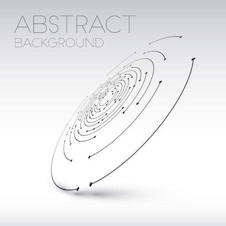 Abstract technical shape - 3D circles with dots and shadow - abstract background Illustration
