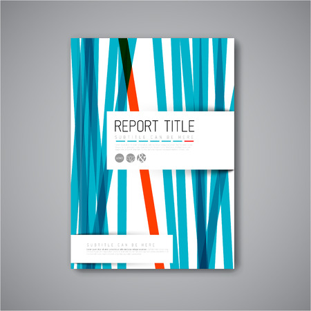 Modern Vector abstract brochure  book  flyer design template with blue and red stripes