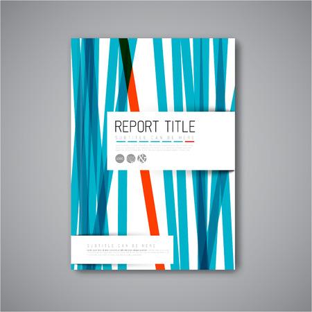 Vecteur abstrait moderne modèle de conception brochure / livre / flyer avec des rayures bleues et rouges Banque d'images - 41662732