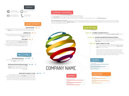 profil: Przegląd firmy szablon wektora projektowania