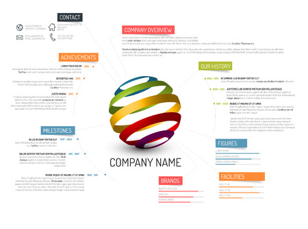 companies: Vector Company overview design template