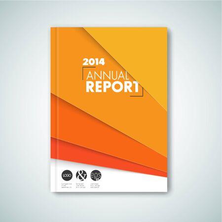Modern Vector abstract brochure  book  flyer design template - orange version