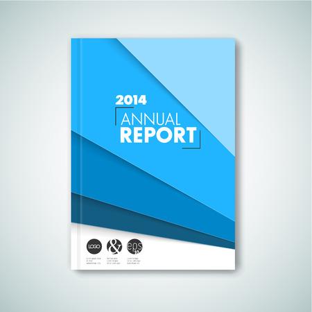 technology cover: Modern Vector abstract brochure  book  flyer design template - blue version Illustration