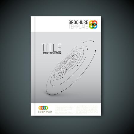 Moderne Vector abstracte brochure, rapport of flyer ontwerpsjabloon Stockfoto - 43216583