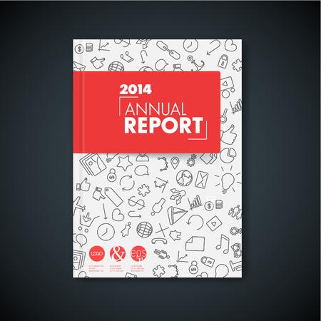 portadas de libros: Moderno Vector rojo folleto libro  plantilla de dise�o abstracto  volante con iconos de aplicaciones