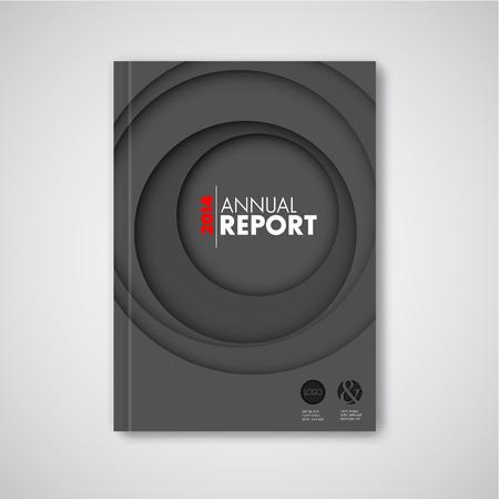 cover book: Modern dark Vector abstract brochure  book  flyer design template with circles