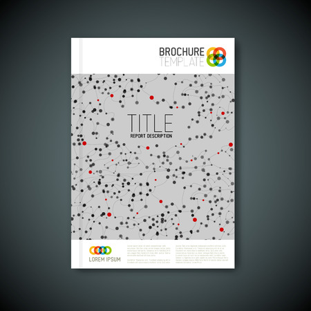 microscopy: Modern Vector abstract brochure, report or flyer design template