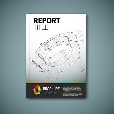 informe: Moderno Vector abstracto folleto, informe o folleto plantilla de diseño Vectores