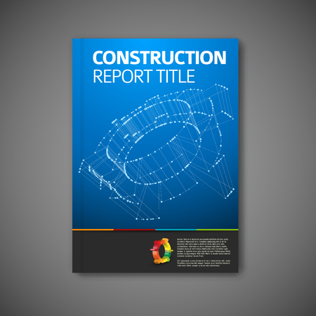 engineering design: Modern Vector constructione engineering brochure, report or flyer design template Illustration