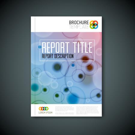 microscopy: Modern Vector abstract microscopy biological brochure, report or flyer design template Illustration