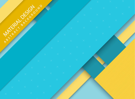 stripped background: Abstract stripped background - material design style - blue and yellow version