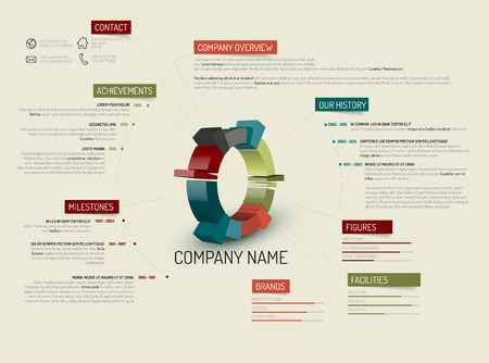 Retro Company Overview Design Template Royalty Free Cliparts