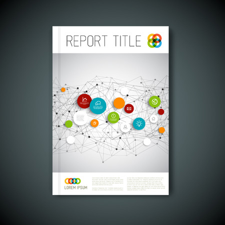 portadas de libros: Abstracto moderno folleto, informe o folleto plantilla de diseño Vectores