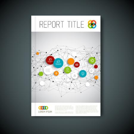 information design: Modern abstract brochure, report or flyer design template