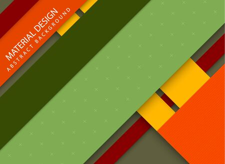 yellow green: Abstract stripped background - material design style - green, yellow and red version