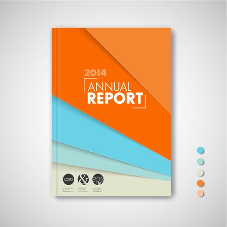 Modern Vector abstract brochure  book  flyer design template - fresh retro color version