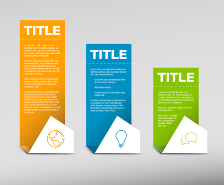 paper product: Vector Paper Progress background  product choice or versions - orange, blue and green Illustration