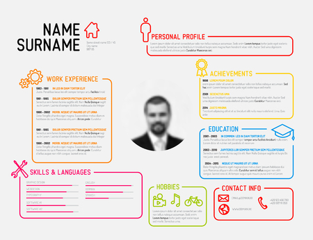 curriculum: Vector original minimalist cv  resume template - creative version
