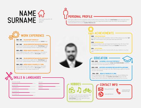 Vector original minimalist cv / resume template - creative version