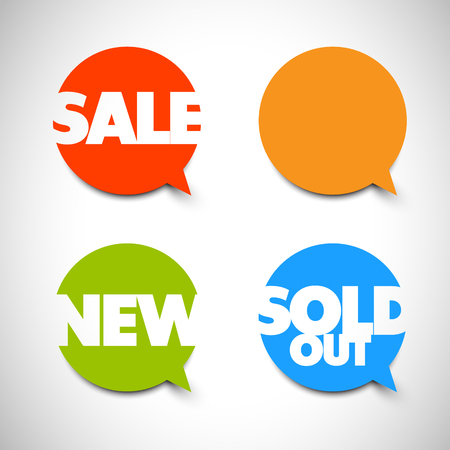 item: Speech bubble pointers for your shop: sale, new, sold out items