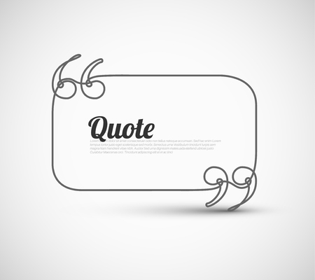 citing: Blank Quote Template - continuous doodle drawing Illustration