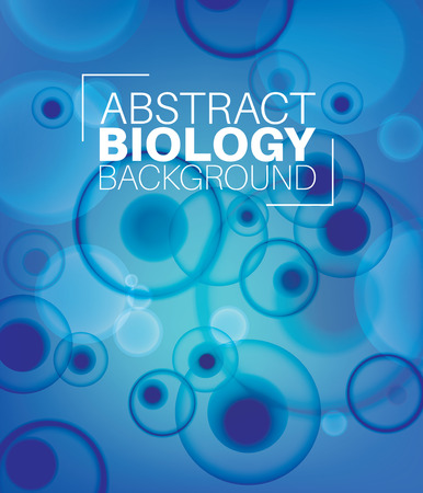 experiments: Vector Abstract biology background with moleculs and virus Illustration