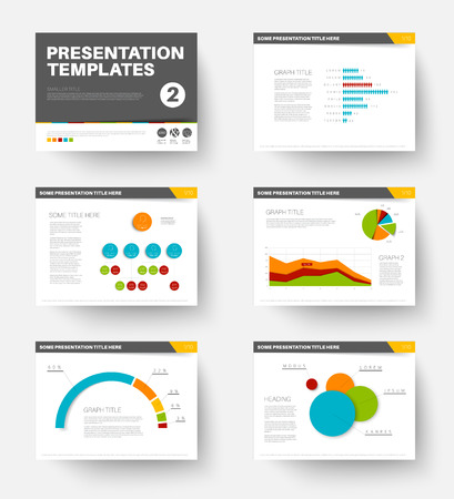 Minimalistic flat design Vector Template for presentation slides part 2