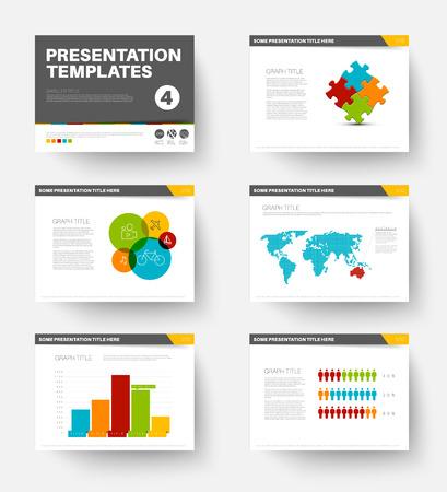 slide show: Minimalistic flat design Vector Template for presentation slides part 4 Illustration