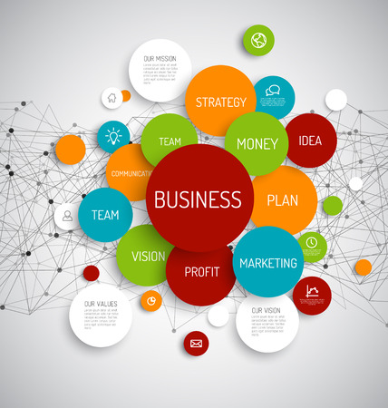 Vector Abstract Business infographic schema Illustration