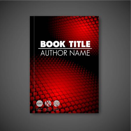 abstract black: Modern Vector abstract dark brochure  report design template with 3d shapes Illustration