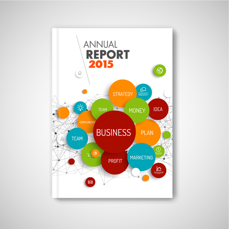 Modern Vector abstract brochure / report design business template