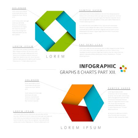 infochart: Vector flat design infographic elements (cycle diagrams) - 13. part of my infographic bundle