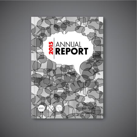 Moderne Vector abstract Broschüre / Buch / Flyer Design-Vorlage mit Sprechblasen