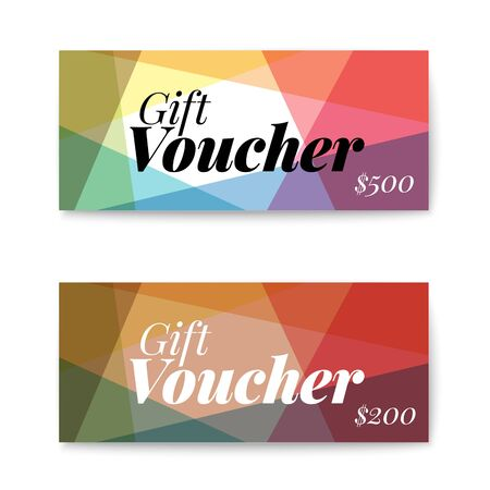 label design: Set of gift (discount) voucher cards - modern version