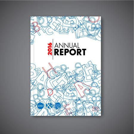 Moderne Vector abstracte brochure / boek / flyer ontwerp sjabloon - versie met cijfers