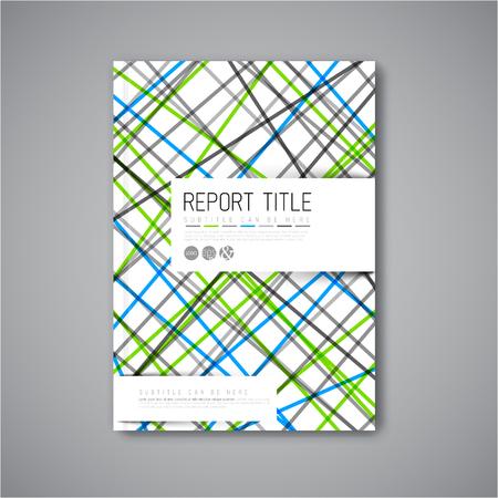 blue book: Modern Vector abstract brochure  book  flyer design template - light  blue and green version