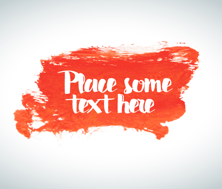 place for your text: Red Vector watercolor background with place for your text Illustration