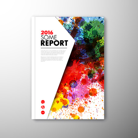 booklet design: Modern Vector abstract brochure  book  flyer design template with artistic colorful motive Illustration