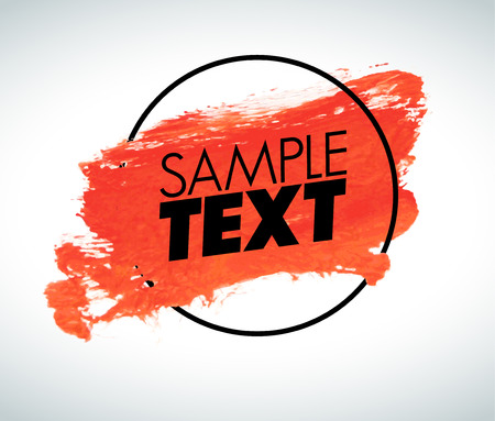 place for your text: Red watercolor background with place for your text