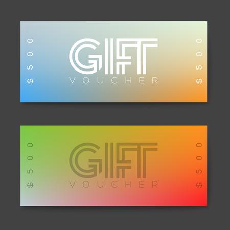 minimalistic: Set of gift (discount) voucher cards - minimalistic version Illustration