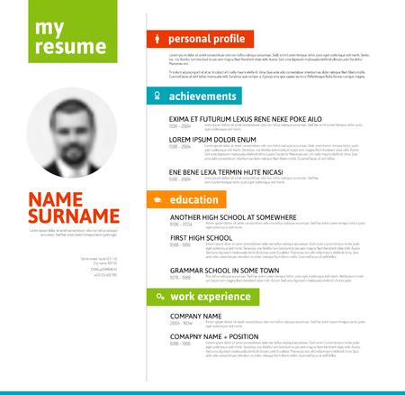 skill: minimalist cv  resume template with nice typogrgaphy colorful design