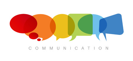 communication concept: abstract Communication concept illustration Illustration