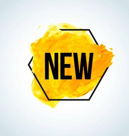Gelbe Aquarell neues Element für Ihren Shop