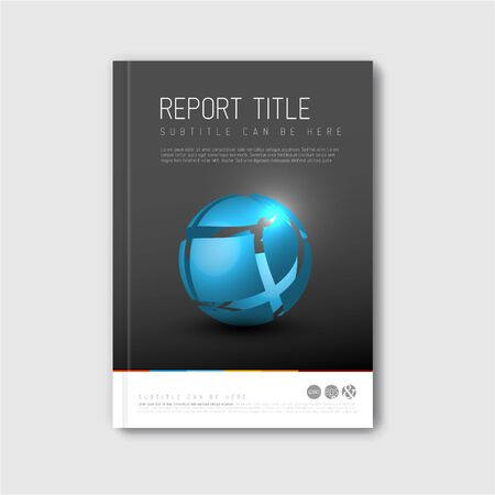 blue book: Modern abstract brochure  book  design template with blue abstract shape Illustration