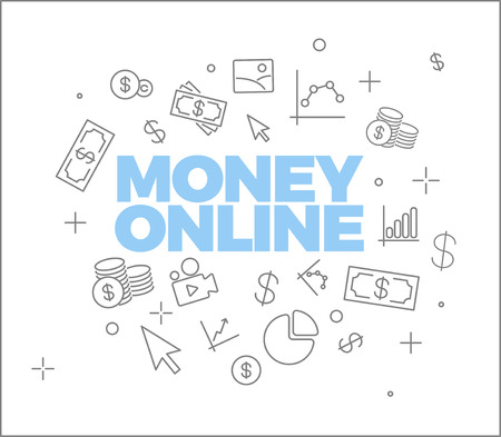 illustrative: Online money concept - abstract illustrative background