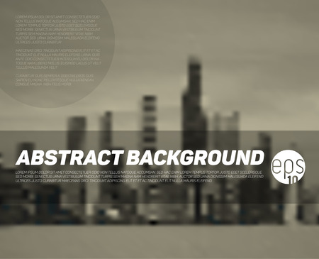 overview: abstract blurred city background with place for your text - brown version