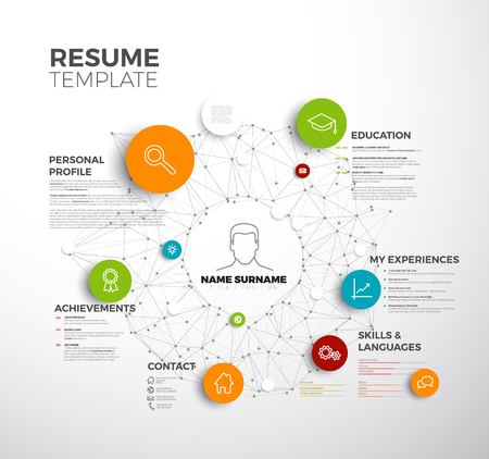 job descriptions: original minimalist cv  resume template - creative profile version Illustration