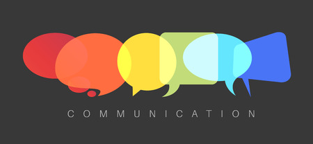 communication concept: abstract Communication concept illustration - dark communication version