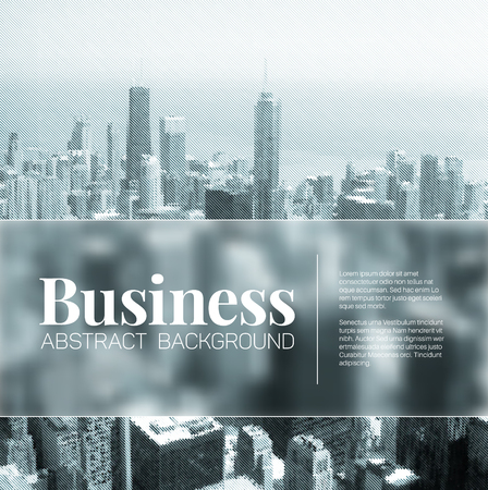 business abstract blurred city background with place for your text - blue version