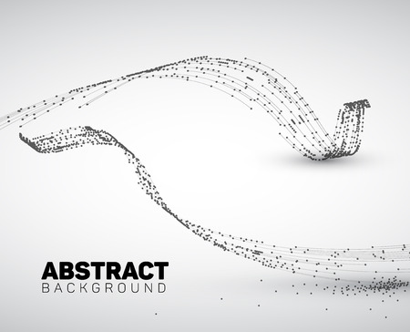Abstract black and white background made from points and circles. Abstract Geometry. Geometrical abstract shape. Illustration